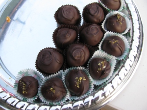 Tisza's homemade chocolate truffles - Yum!