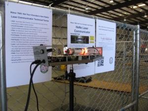 A vintage Helium-Neon (HeNe) laser communicator by Dennis W6DQ