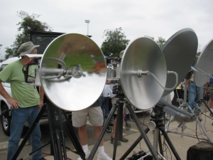 Microwave radio dishes used for ham (Amateur) radio communication.