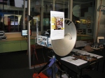 M/A-COM dish at DiscoveryCenter