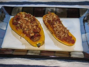 Stuffed squash 1 - done.