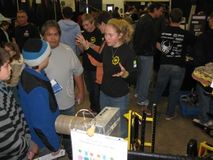 It's great to see young ladies get excited about technical things. There's a San Diego area high school program that includes a robotics class and competition