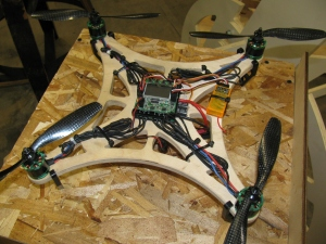 Quadcopters seem to be trendy with Makers. Maybe this is where Jeffery Beezos got that idea for small package delivery?