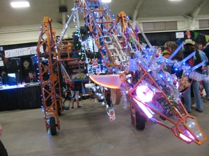 Russell - the Electric Giraffe at the 2013 San Diego Mini Maker Faire. Russell and its builder Lindsay, are San Diego residents