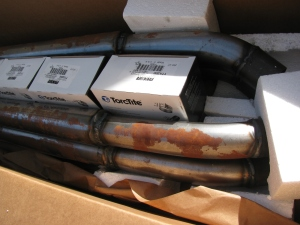 Type 65 Coupe Exhaust, Uncoated, from Factory Five Racing, after one year