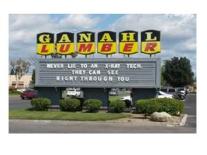 kh6wz - x-ray sign Ganahl Lumber