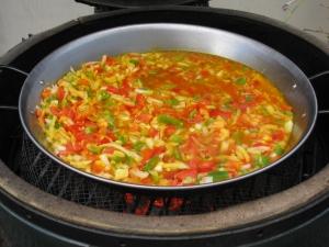 IMG_0608 wayne yoshida paella simmering on grill