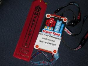 Wayne Yoshida Technical Writer Maker Faire Ribbon Win