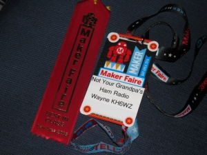 Wayne Yoshida Technical Writer Maker Faire Ribbon Win